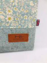 Load image into Gallery viewer, Floral Pale Lavender & Mist Blue Book, IPad, Tablet, Kindle Cover British Tweed & Floral Cotton