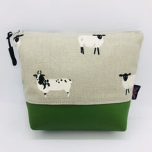Load image into Gallery viewer, Sheep Ram Lamb Makeup Bag, Cosmetics Case, British Handcrafted Gift