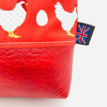 Load image into Gallery viewer, Chicken & Egg Makeup Bag, Cosmetics Case, British Handcrafted Gift