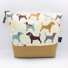 Load image into Gallery viewer, Dogs & Puppies Makeup Bag, Cosmetics Case, British Handcrafted Gift
