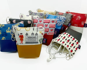 British Earphone & Phone Cable Tidy Bag