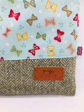 Load image into Gallery viewer, Butterflies & Tree Bark Book, IPad, Tablet, Kindle Cover British Tweed & Floral Cotton