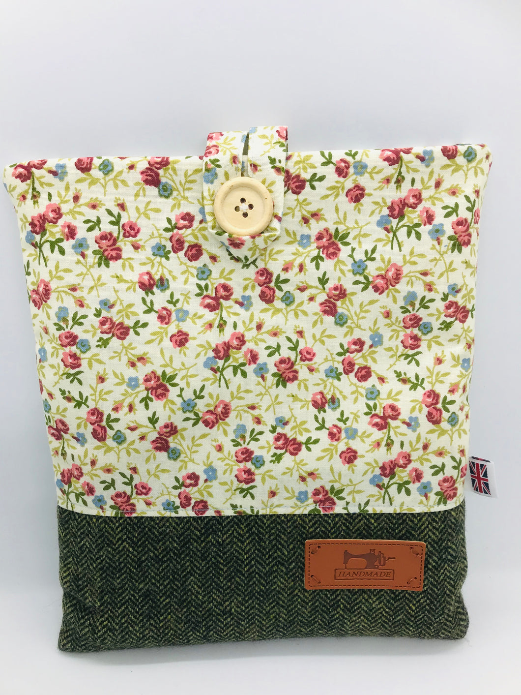 Floral Summer & Garden Green, Tablet, Kindle, IPad Cover, British Tweed & Floral Cottons