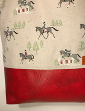 Load image into Gallery viewer, Horse Show Jumping Tote Bag