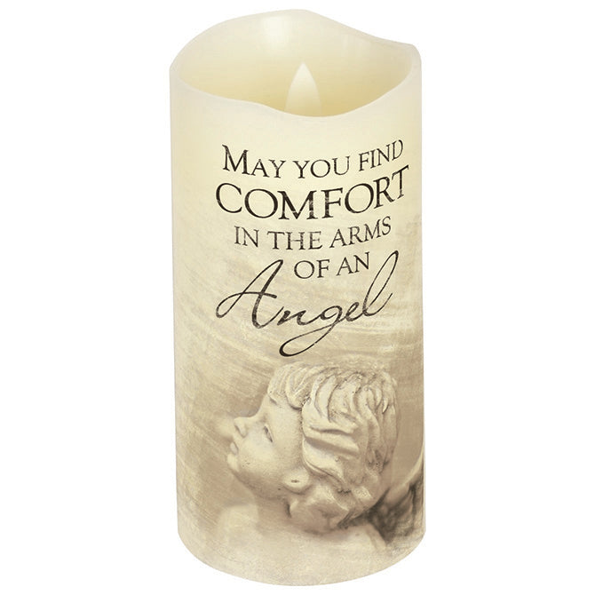 "6x3"" Flicker Wick Arms Of An Angel Candle"
