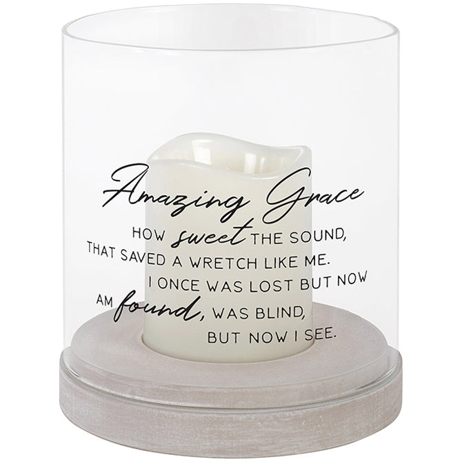 Amazing Grace Glass Hurricane