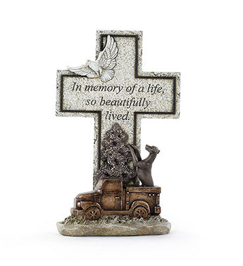 Dog Truck Memory Cross