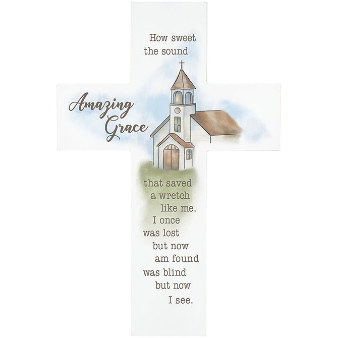 """Amazing Grace"" Wall Cross"