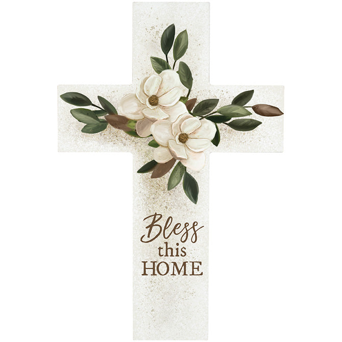 """Bless This Home"" Wall Cross"