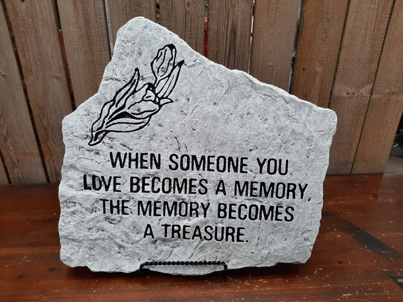 """Treasured Memory"" Stone Plaque"