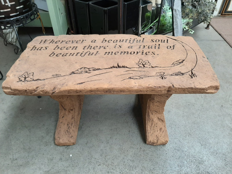 """Trail of Memories"" Stone Bench"