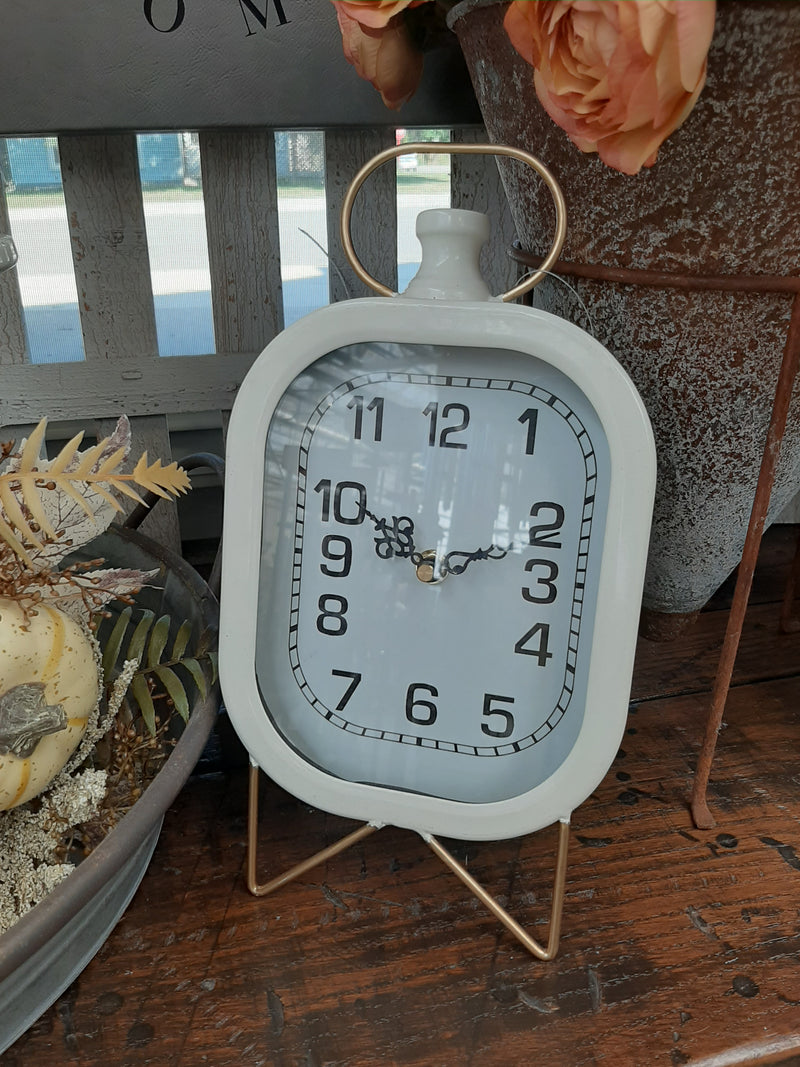 "11"" White Modern Desk Clock"
