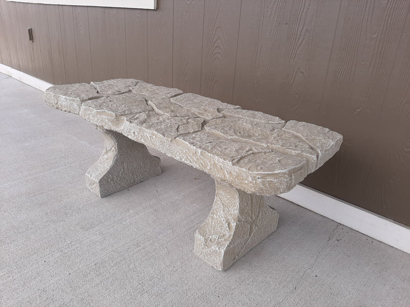 River Rock Bench