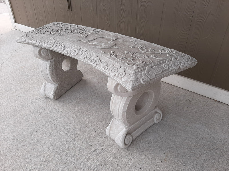 Swallow Decorative Stone Bench