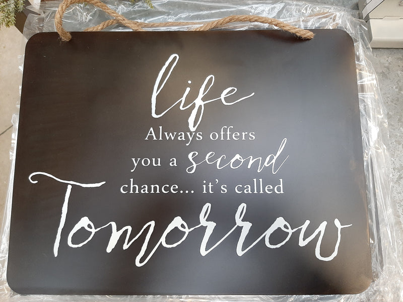 Life Tomorrow Metal Wall Plaque