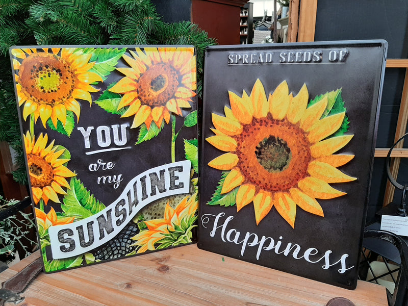 Sunflower Word Metal Signs
