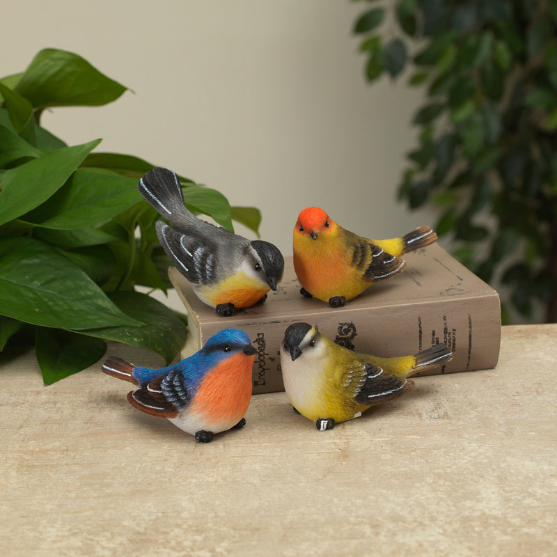 Colorful Bird Figurines