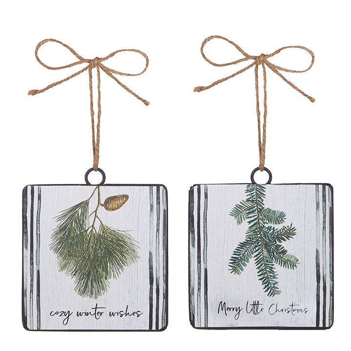 Winter Wishes Disc Ornaments