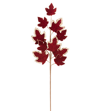 Burgundy/Gold Maple Leaf Spray