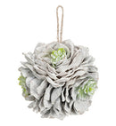 Frosted Succulent Ornament