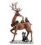 Standing Reindeer with Animals Figurine