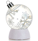 LED Snowflake Ornament Water Globe