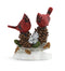 Cardinals on Pine Cones Figurine