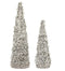 Silver Sequin Iced Cone Tree