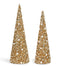 Pearl Gold Sequin Cone Tree
