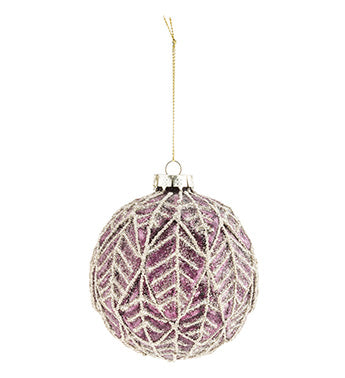 Lavender With Gold Leaf Ornament