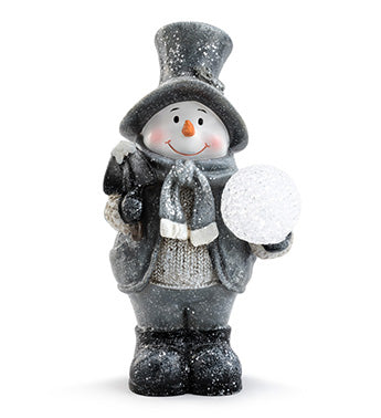 Snowman with Glitter LED Snowball