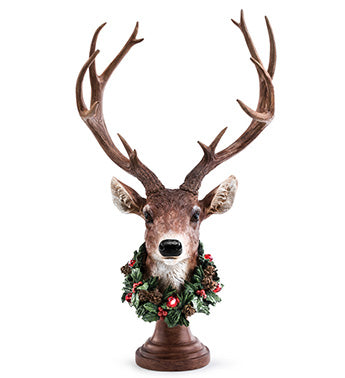 Deer Head with LED Wreath
