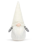 Gray/White Crocheted Gnome