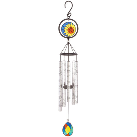 35 Memories Left Stained Glass Windchime