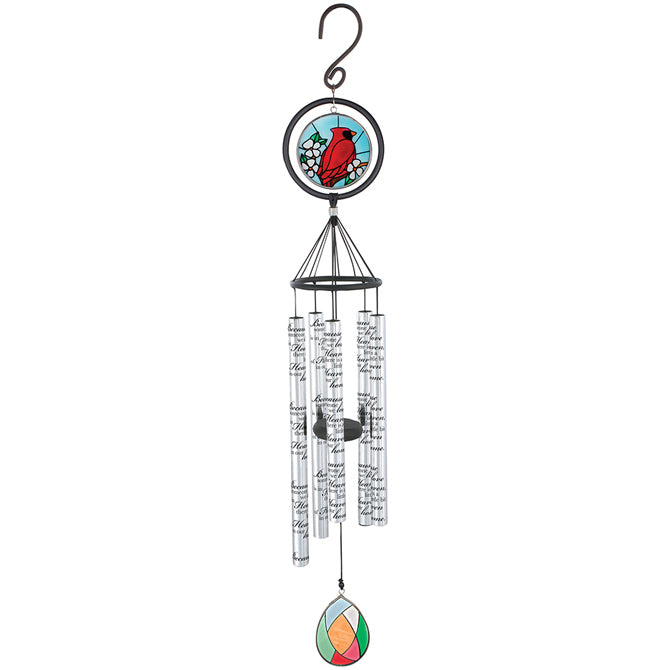 "35"" Heaven In Home Stained Glass Windchime"