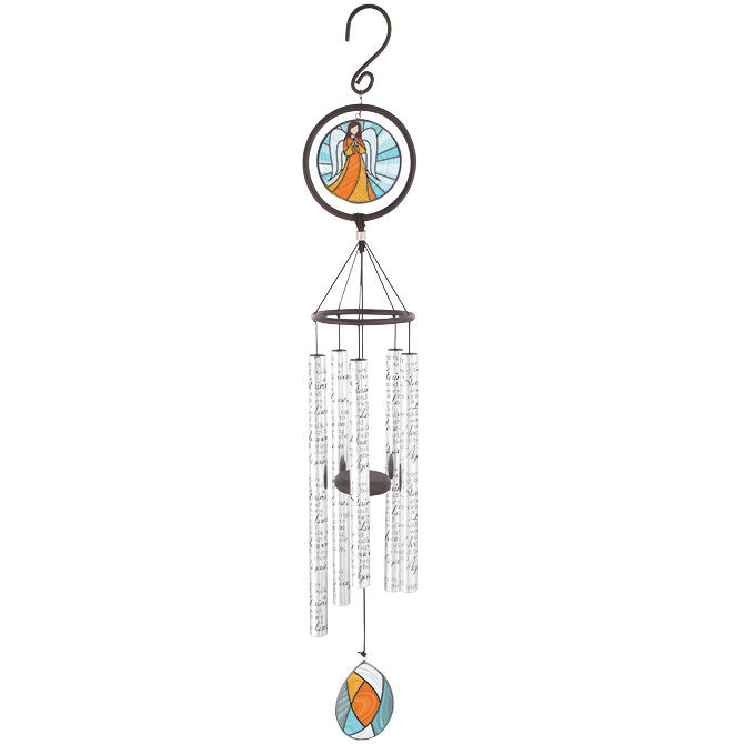 "35"" Tears Stained Glass Windchime"