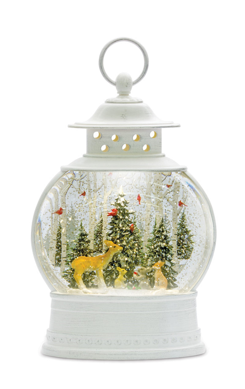 Winter Woods Snow Globe Lantern