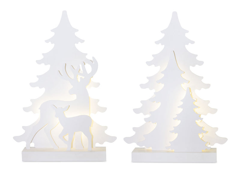 Tree and Deer Shadow Figurine