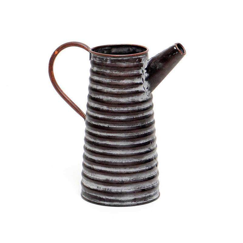 Metal Ribbed Pitcher