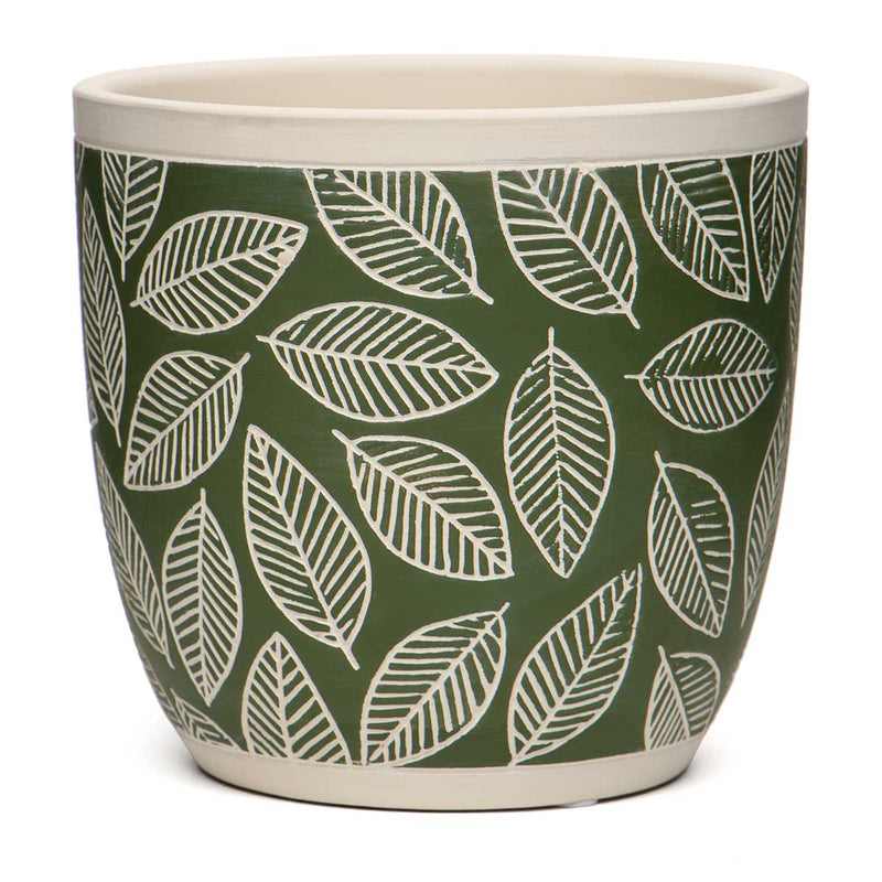 Beech Leaf Terra Cotta Pot