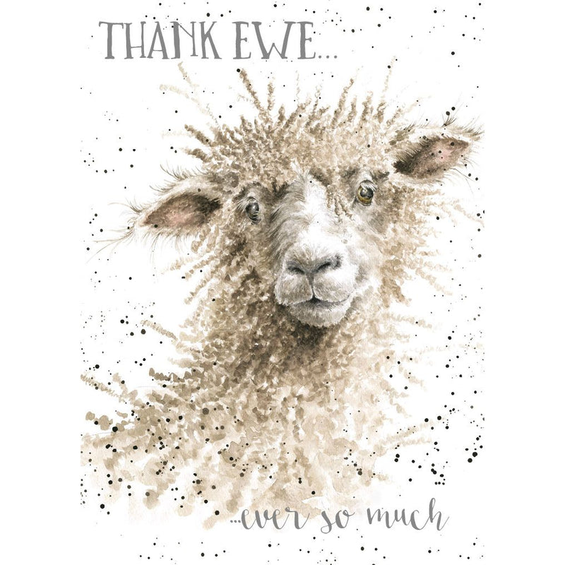 'Thank Ewe' Thank You card