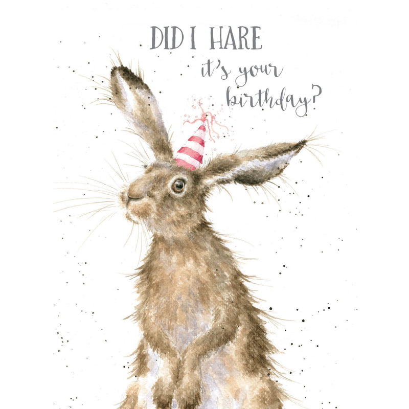 'Birthday Hare' card