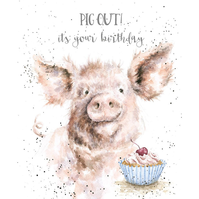 'Pig Out!' Birthday Card