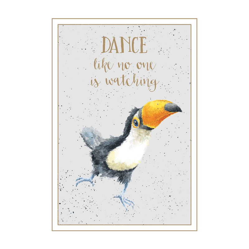 'Dance like no one is watching' card
