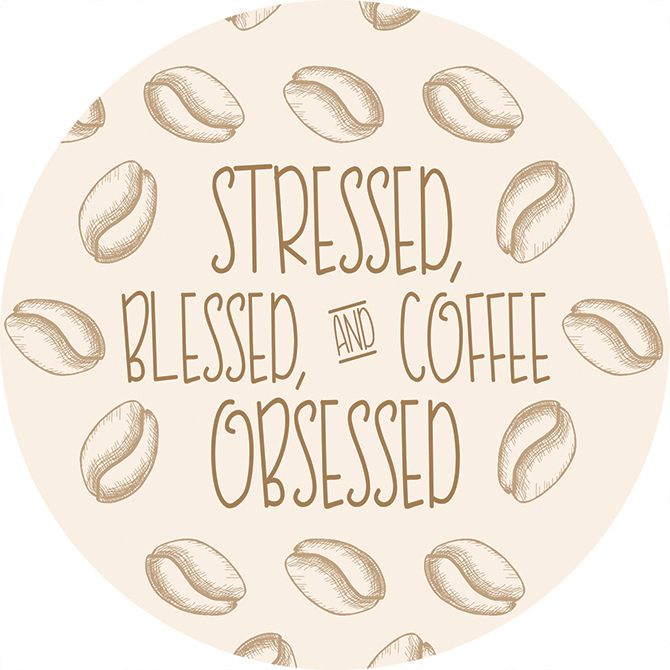 Coffee Obsessed Car Coaster