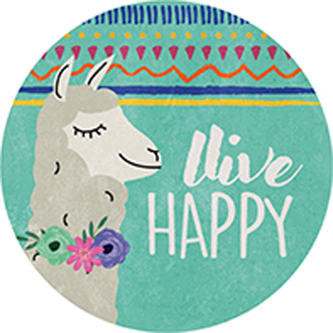 Live Happy Car Coaster