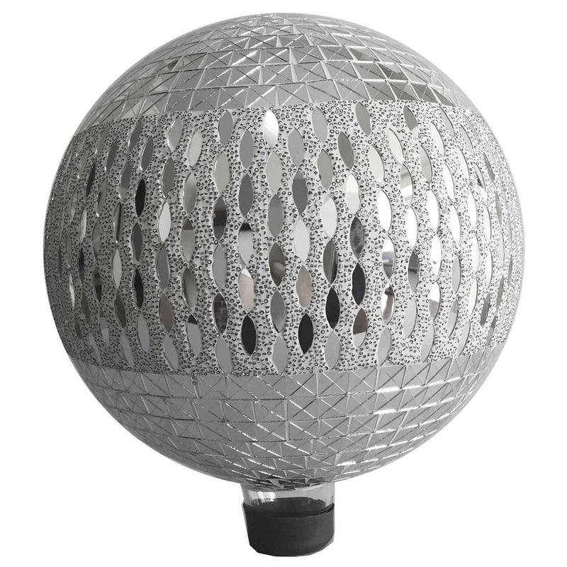 "12"" Silver Bling Glass Globe"