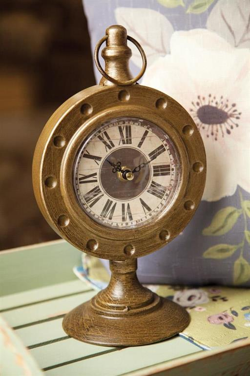 Bronze Pedestal Table Clock