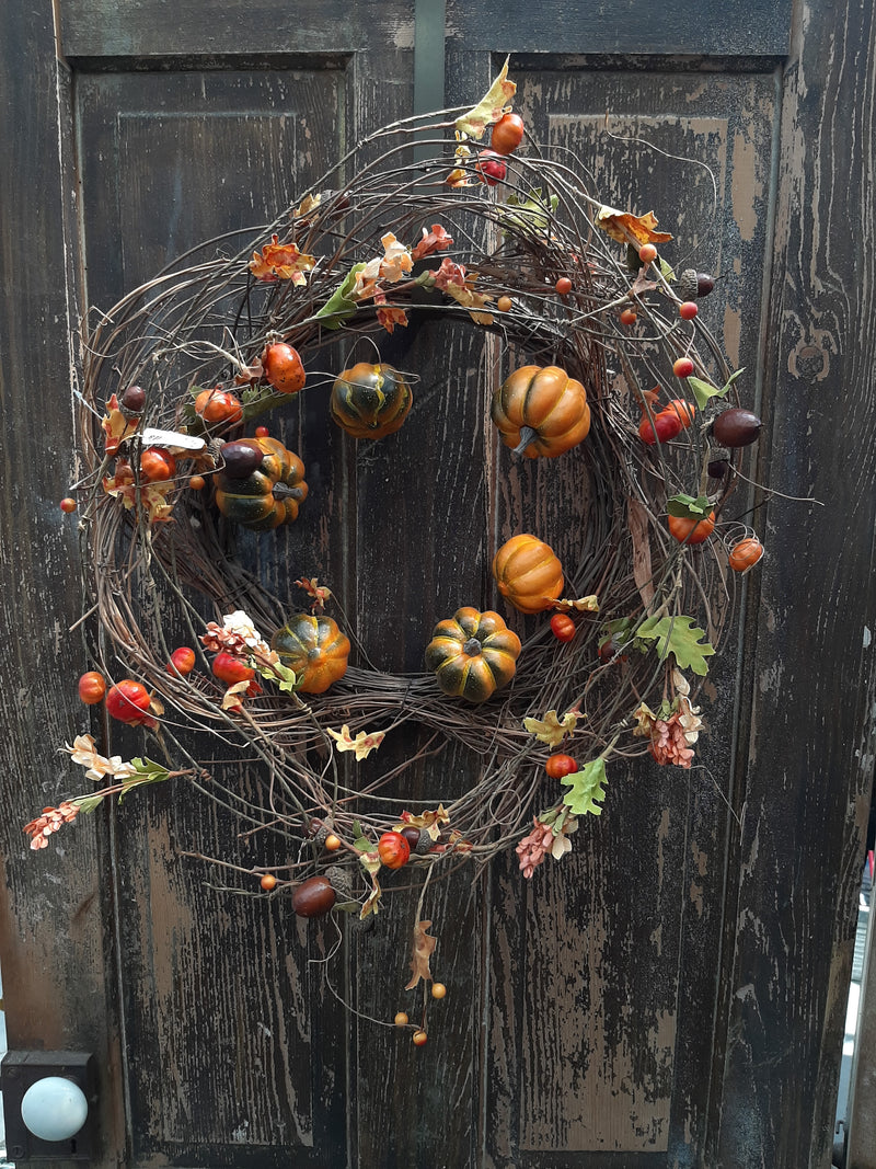 "20"" Pumpkin Patch Twig Wreath"