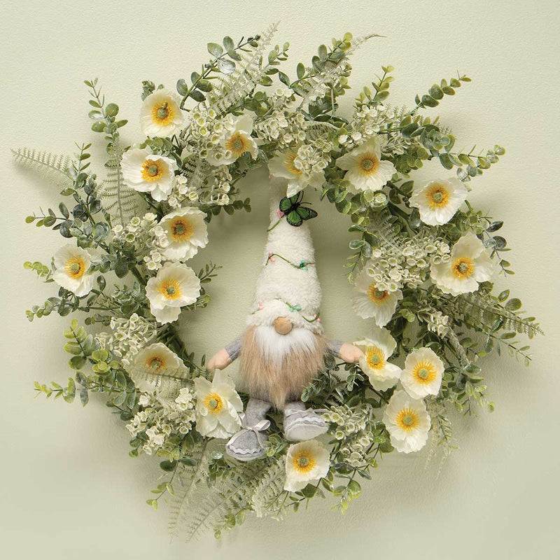 Bianca Poppy with Eucalyptus Wreath